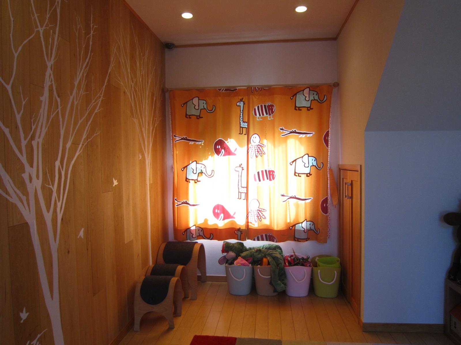 カーテン モデル リフォーム  子供部屋