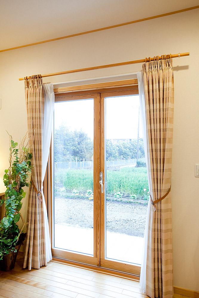 木製サッシ カーテン リフォーム