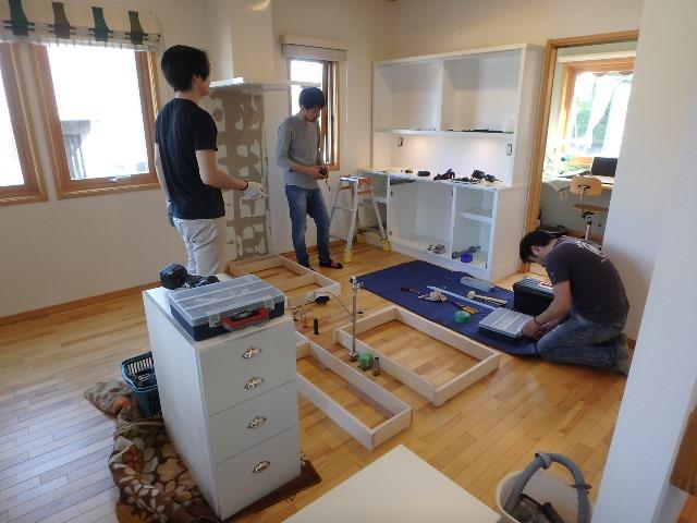 キッチン 背面収納工事 横浜