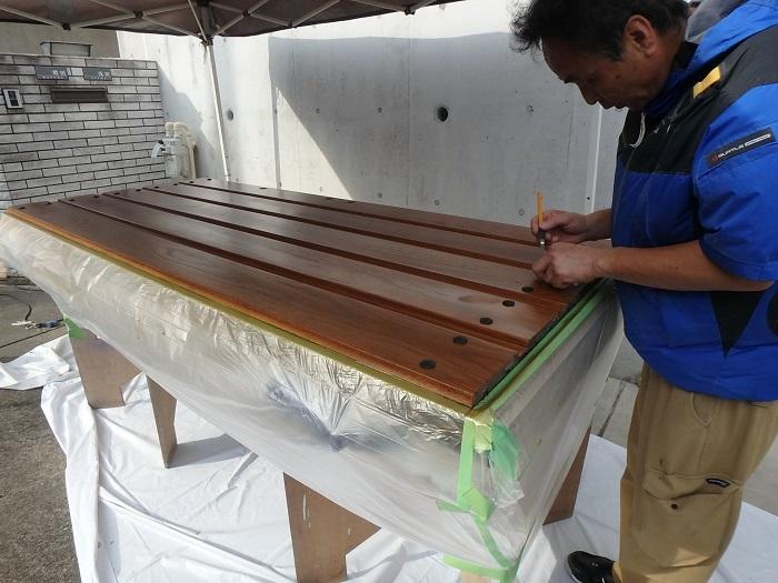 ジューテックホーム ウェルリフォーム 木製玄関ドア 塗装リフォーム 横浜 輸入玄関ドア